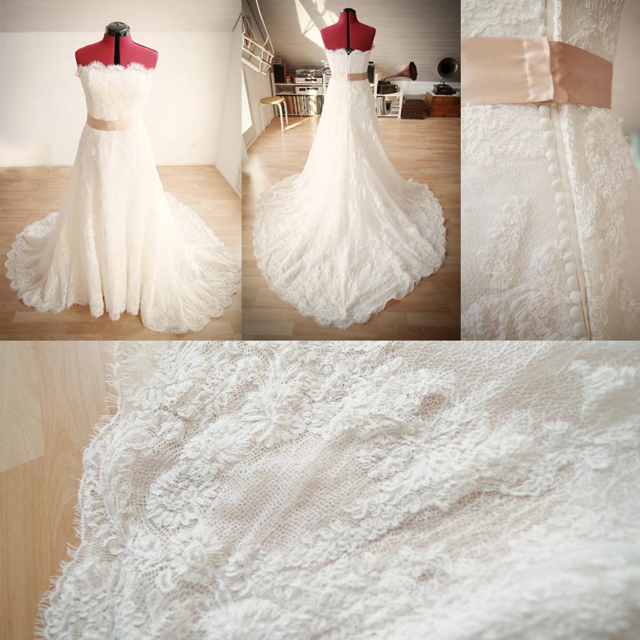 Nähen ein Hochzeitskleid