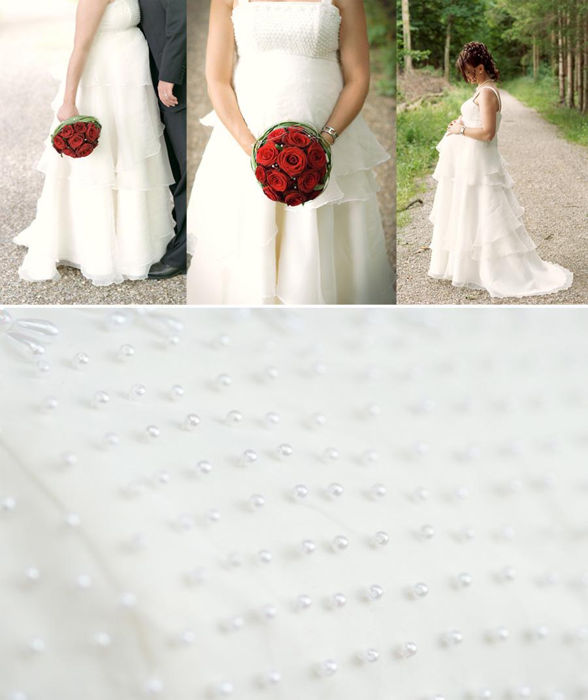 Gebrauchte weißen Strand Hochzeitskleid  Fotos
